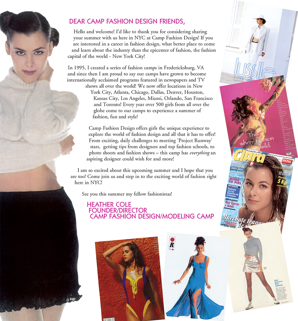 Letter From The Founder Camp Fashion Design Founder Heather Cole